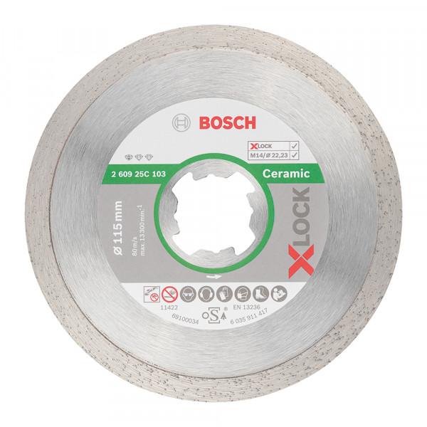 Bosch Disque à tronçonner diamanté Standard for Ceramic 115x22,23x1,6x7 - 260925C103