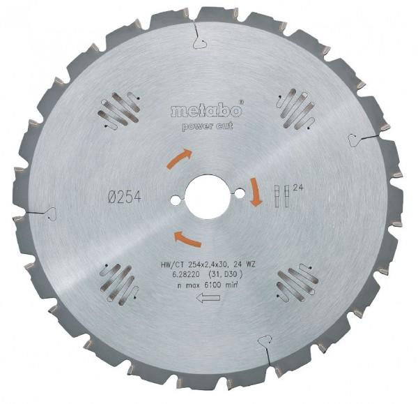 Metabo Lame de scie circulaire HW/CT 210 x 30, 24 WZ 5° - 0910058843