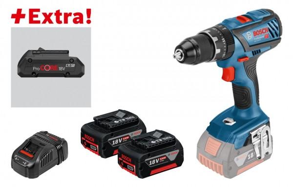 Bosch Trapano-avvitatore con percussione a batteria GSB 18V-28, 2 batterie da 5,0 Ah, batteria ProCORE18V 4.0Ah, L-BOXX - 0615990K7J