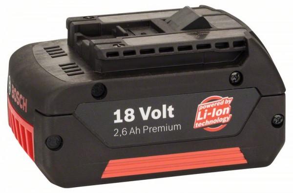 Bosch Batteria ad innesto GBA da 18 V 2,6 Ah M-C HD, 2,6 Ah, Li Ion