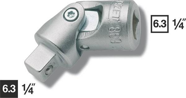 Hazet Universalgelenk - Vierkant hohl 6,3 mm (1/4 Zoll) - Vierkant massiv 6,3 mm (1/4 Zoll) - Gesamtlänge: 36.5 mm - 869