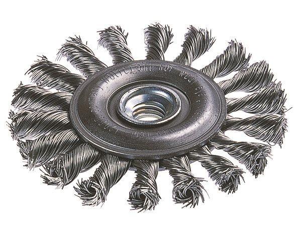 Wolfcraft Brosse plate pour métaux,. filetage M 14 mm