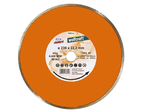 Wolfcraft Disque diamant à jante continue, standard 180x22,2 mm