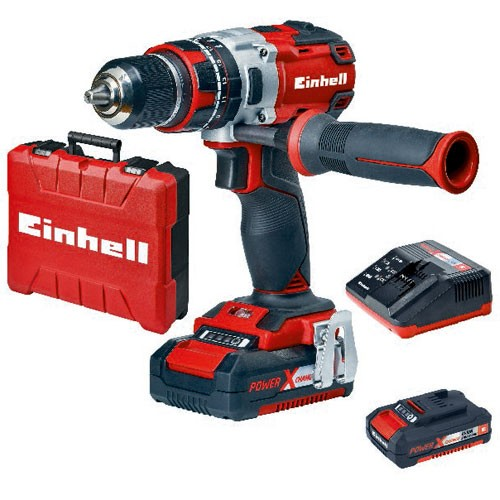 Einhell Perceuse-visseuse à percussion sans fil TE-CD 18 Li-i BL (2x2,0Ah) - 4513861
