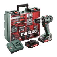 Metabo Accu-boorschroefmachine BS 18 L Set, 18V 2x2Ah Li-Ion, Lader SC 30, Kunststof koffer, Mobiele werkplaats - 602321870