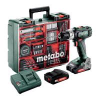 Metabo Accu-klopboormachine SB 18 L set, Mobiele werkplaats, Kunststof koffer, 18V 2x2Ah Li-Ion + SC 30 - 602317870