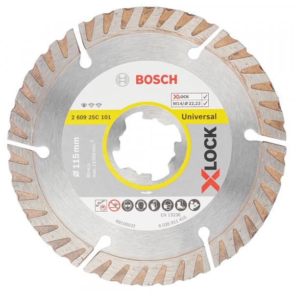 Bosch Disque à tronçonner diamanté Standard for Universal de Bosch Professional 115x22,23x2x10 - 260925C101