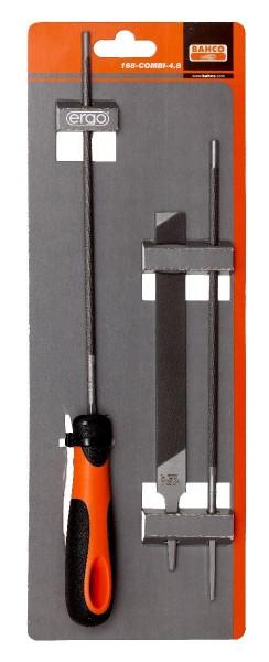 Bahco Lime de scie à chaîne, manche ergo, 200mm ø 5,5mm - 168-combi-5.5