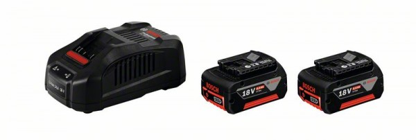 Bosch Professional Akku-Set Clic & Go, Basis Set 18 V - 2 x GBA 6,0 Ah, GAL 1880 CV
