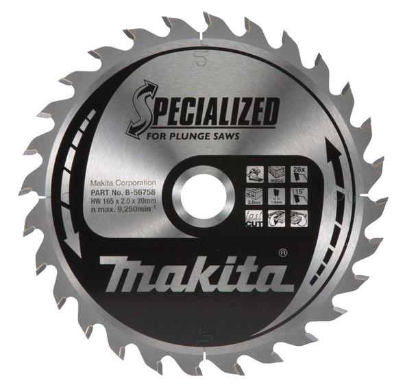 Makita Specialized Zaagblad, 165x20x28T - B-56758