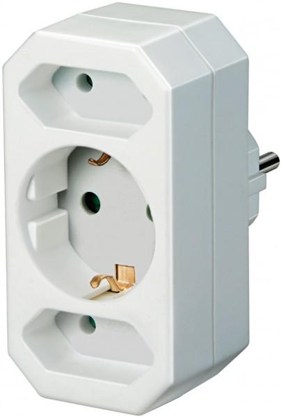 Brennenstuhl Adapterstecker Euro 2 + Schutzkontakt 1 - 1508050