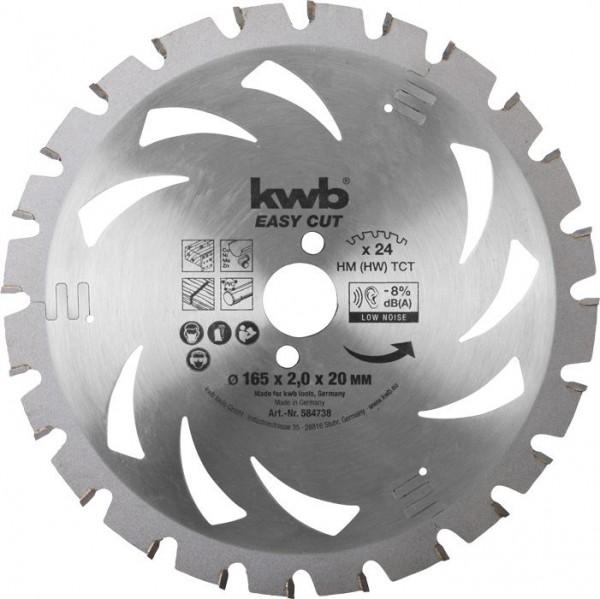 KWB EASY CUT, dun zagend cirkelzaagblad, met hardmetaal versterkt - 584738