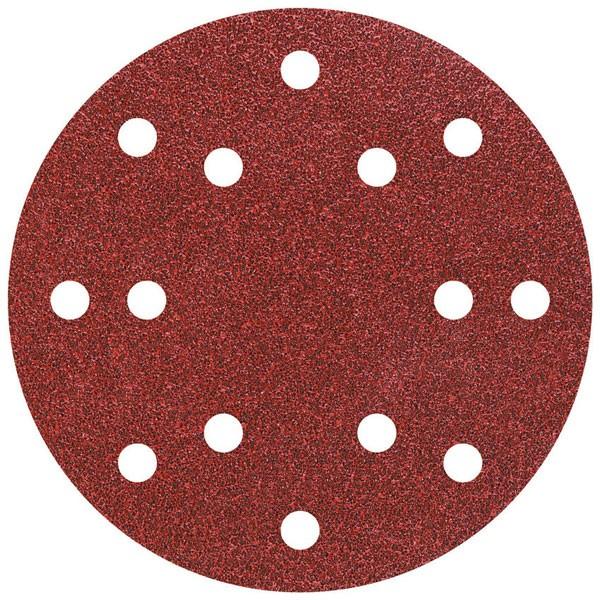 Wolfcraft dischi abrasivi velcro, corindone, perforati, grana 40/80/120/24