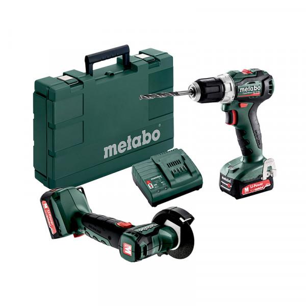 Metabo Set PowerMaxx BS 12 BL + PowerMaxx CC 12 BL, 2x Li-Power Akkupacks (12V/2,0 Ah), Ladegerät SC 30, Koffer, 5 Trennscheiben, Karton - 691150000