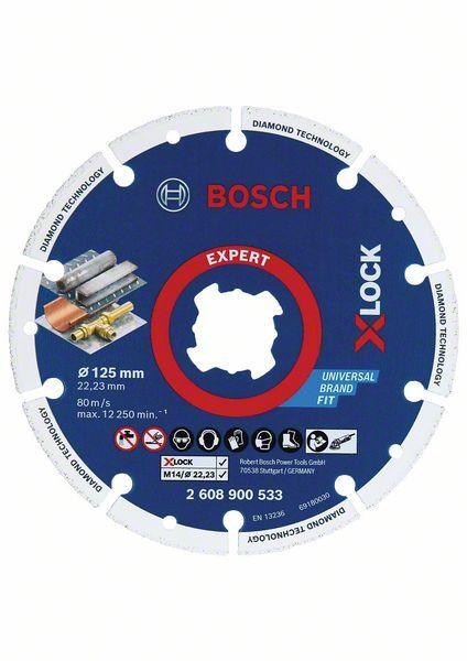 Bosch Diamanttrennscheibe X-LOCK Best for Metal 125 x 22,23 mm - 2608900533