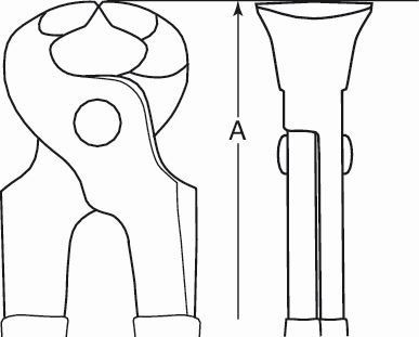 Bahco Tenaglie antiscintilla Alluminio Bronzo, 195 mm - NS413-200