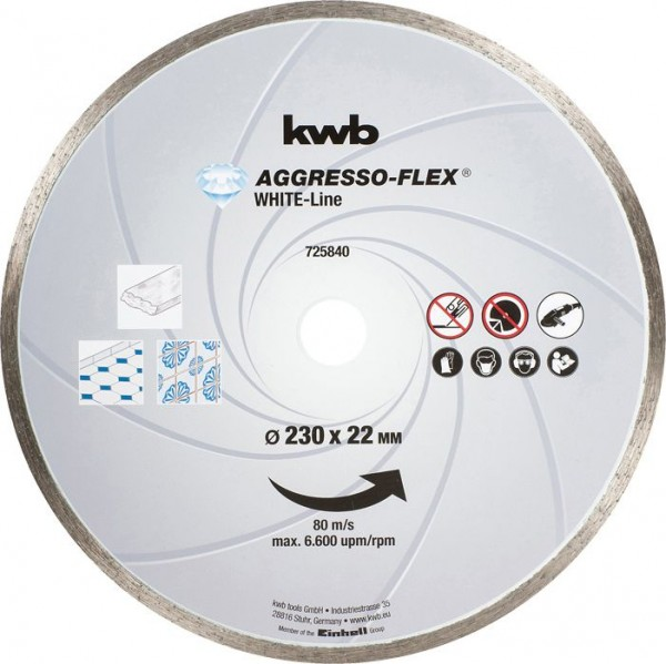 KWB AGGRESSO-FLEX® White-Line DIAMANT-doorslijpschijven, ø 230 mm - 725840