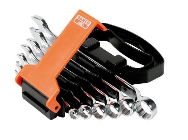 Bahco Jeu de clés mixtes plates (coudées) 6 pcs en support plastique - 1952m/sh6