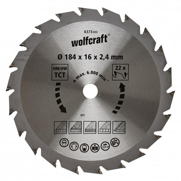 Wolfcraft lama per sega circolare HM, 22 denti