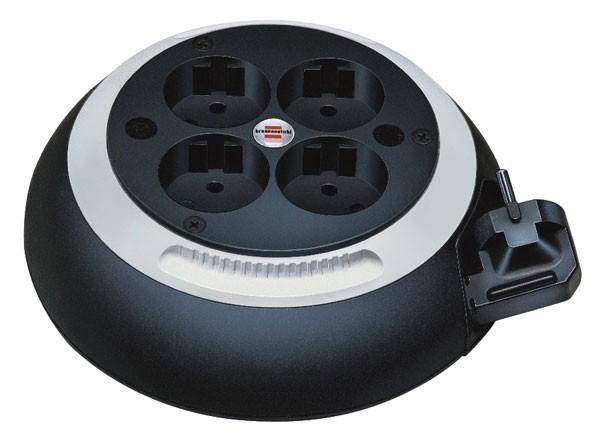 Brennenstuhl Box de câble Confort-Line CL-S 4 prises noir/blanc 3m H05VV-F 3G1,5