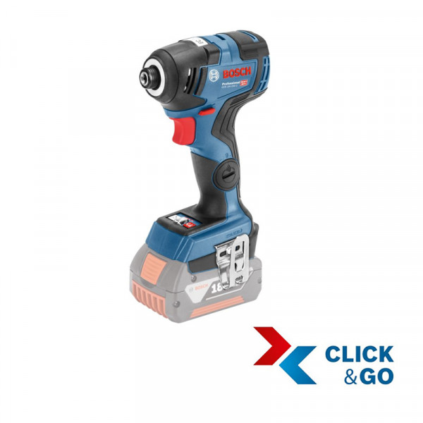 Bosch Professional Akku-Drehschlagschrauber GDR 18V-200 C, ohne Akku und Ladegerät, L-BOXX - 06019G4102