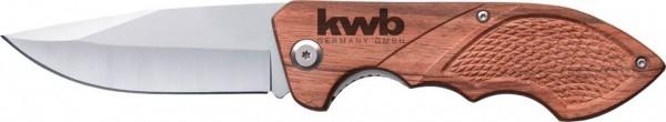 KWB Klein opvouwbaar jachtmes met houten handvat - 021990