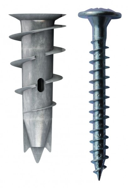 TOX Tassello per cartongesso Spiral Plus 37-2 + vite, 50 pezzi - 68101021