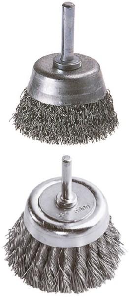 Wolfcraft spazzola a treccia,a tazza, gambo 6 mm