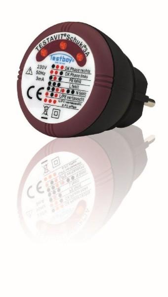 Testboy Appareil de contrôle pour prise de courant avec indicateur direct 60 x 60 mm - TVS 3A