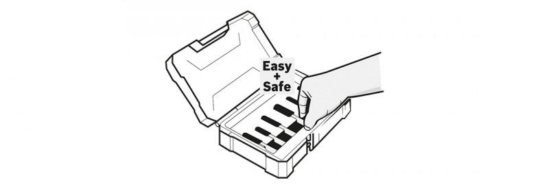 Bosch Fräsersets Safe Easy