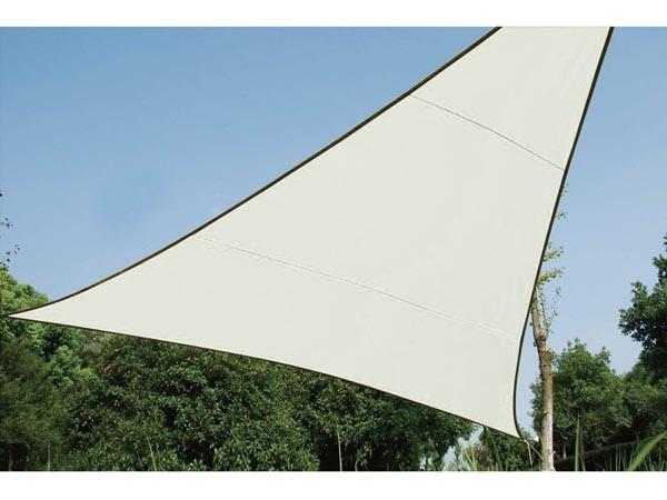 Perel ZONNEZEIL - DRIEHOEK - 5 x 5 x 5 m - KLEUR: CRÈME