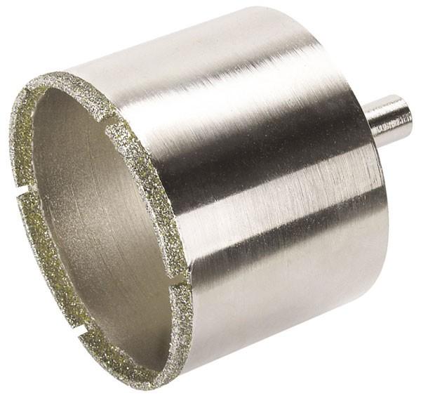 Wolfcraft Trépan diamant céramique avec éponge, tige 10 mm pour perceuse Ø 74
