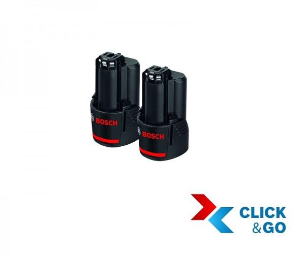 Bosch Professional Akkupack GBA 12 Volt, 3,0 Ah, 2 Stück