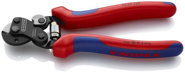 Knipex Cesoia per funi, cavi e trefoli d'acciaio Anche per funi metalliche altamente resistenti brunita 160 mm - 95 62 160