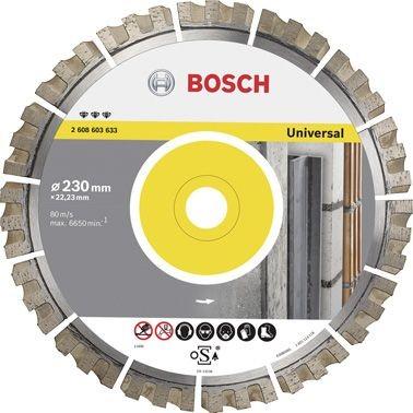 Bosch Diamantdoorslijpschijf Best for Universal 125 x 22,23 x 2,2 x 12 mm