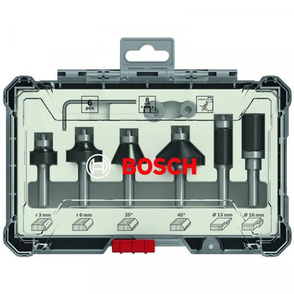 """Bosch Set frese da 6 pz. Trim&Edging codolo da 1/4"""" - 2607017470"""