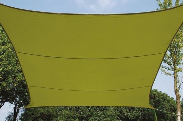 Perel ZONNEZEIL - VIERKANT - 5 x 5 m - KLEUR: LICHTGROEN