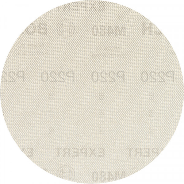 Bosch Professional EXPERT M480 Schleifnetz für Exzenterschleifer, 150mm, G 220, 50Stück - 2608900703