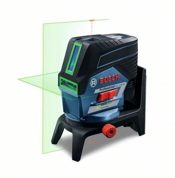 Bosch Professional Linienlaser GCL 2-50 CG, mit 1 x 2,0 Li-Ion Akku, L-BOXX