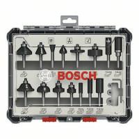 Bosch Fräser-Set, 6-mm-Schaft, 15-teilig - 2607017471