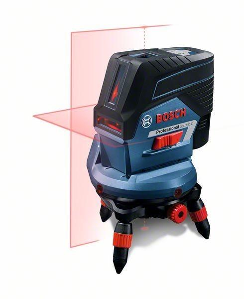 Bosch Laser points et lignes GCL 2-50 C Professional, avec 1 x 2,0 Ah Li-Ion batterie, L-BOXX - 0601066G04