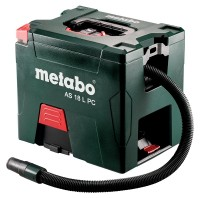 Metabo Accu-alleszuiger AS 18 L PC, 18V, doos, met handmatige filterreiniging - 602021850