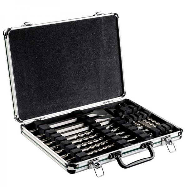 """Metabo Serie di punte/scalpelli SDS-plus """"SP"""", 17 pezzi, in valigetta di alluminio - 628414000"""