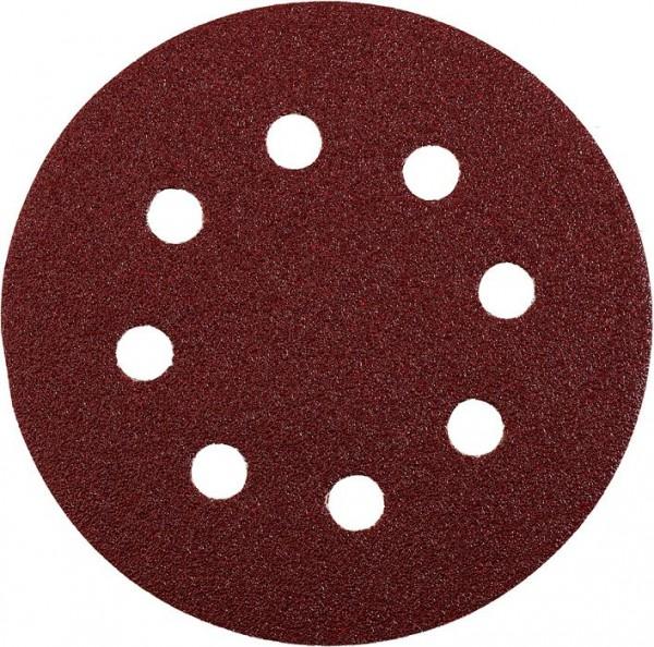 KWB QUICK-STICK schuurschijven, HOUT & METAAL, edelkorund, Ø 125 mm, geperforeerd - 541918