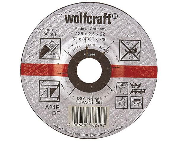 Wolfcraft dischi per troncare metallo, a centro depresso