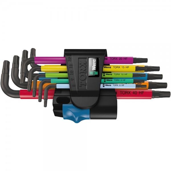 Wera 967 SL/9 TORX® HF Multicolour Winkelschlüsselsatz mit Haltefunktion, 9-teilig - 05024179001
