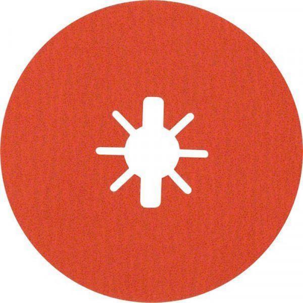 Bosch Professional EXPERT R782 Prisma Ceramic Fiberscheibe, 125mm, 22,23mm, G 80, 5-tlg.. Für Winkelschleifer mit X-LOCK und mit Spannmutter - 2608621810