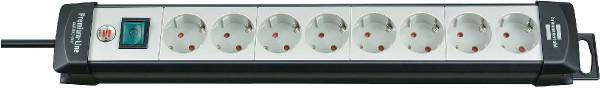 Brennenstuhl Premium-Line Steckdosenleiste 8-fach 3m schwarz/lichtgrau