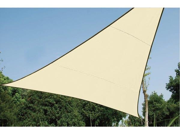 Perel WATERDOORLATEND ZONNEZEIL - DRIEHOEK - 5 x 5 x 5 m - KLEUR: CHAMPAGNE