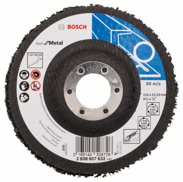 Bosch Reinigungsscheibe N377, Best for Metal, 115 mm, 22,23 mm, SiC, 8350 U/min